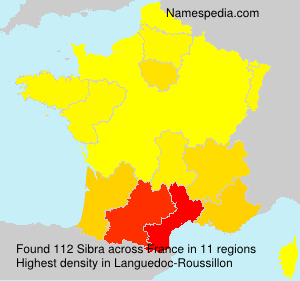 Surname Sibra in France