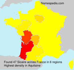 Surname Sicaire in France