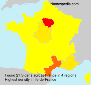 Surname Sideris in France