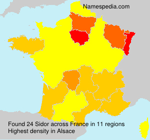 Surname Sidor in France