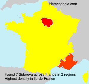 Surname Sidorova in France