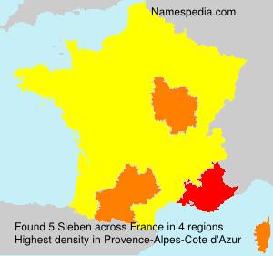 Familiennamen Sieben - France