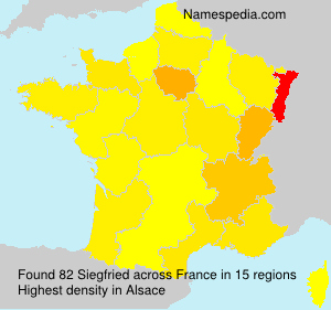 Surname Siegfried in France