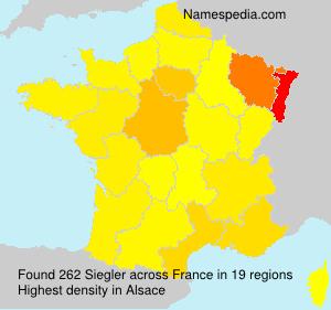 Surname Siegler in France