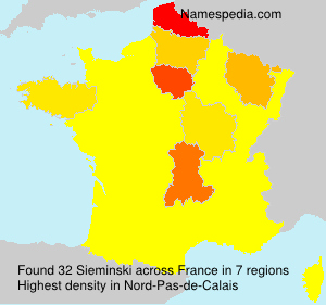 Surname Sieminski in France