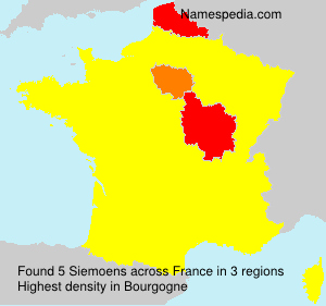 Surname Siemoens in France