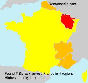 Surname Sieracki in France