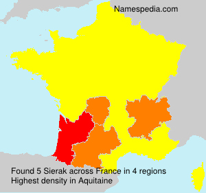 Surname Sierak in France