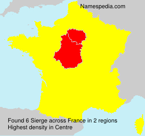 Familiennamen Sierge - France
