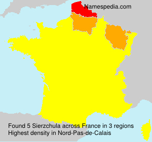 Surname Sierzchula in France