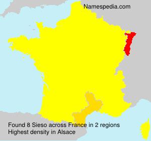 Surname Sieso in France