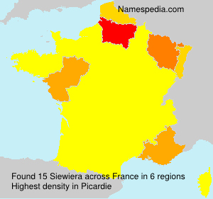 Surname Siewiera in France