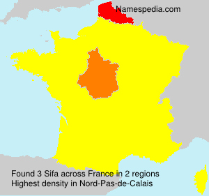 Surname Sifa in France