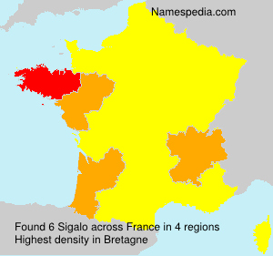 Surname Sigalo in France