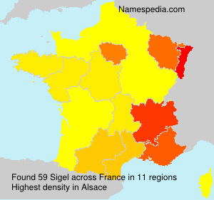 Surname Sigel in France