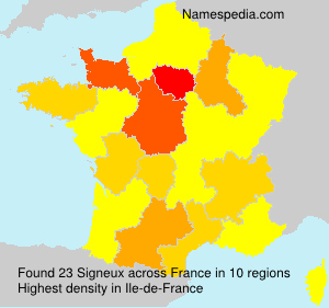 Surname Signeux in France