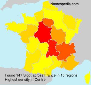 Familiennamen Sigot - France