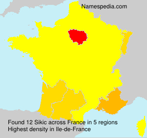 Surname Sikic in France