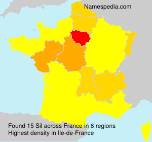 Surname Sil in France