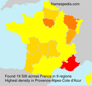 Surname Silli in France