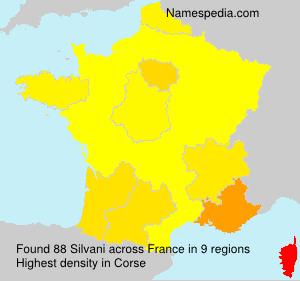 Familiennamen Silvani - France