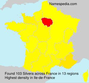 Surname Silvera in France