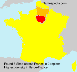 Surname Sime in France