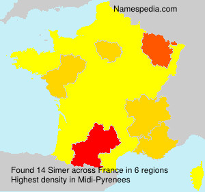 Surname Simer in France
