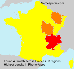 Surname Simeth in France