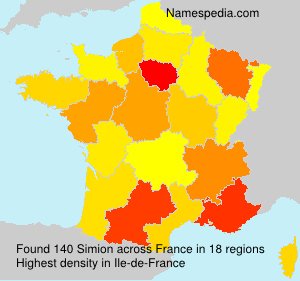 Surname Simion in France