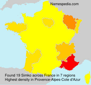 Familiennamen Simko - France