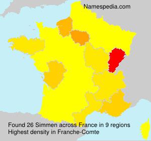 Surname Simmen in France