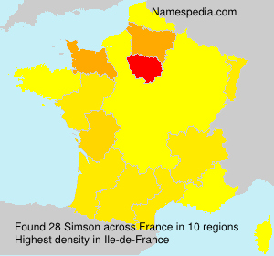 Surname Simson in France