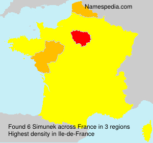 Surname Simunek in France