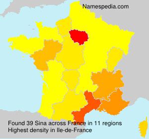 Surname Sina in France