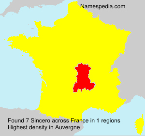Surname Sincero in France