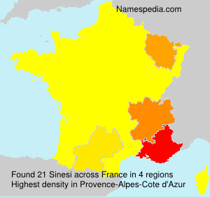 Surname Sinesi in France