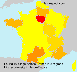 Familiennamen Singa - France
