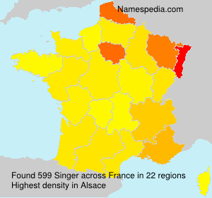 Surname Singer in France