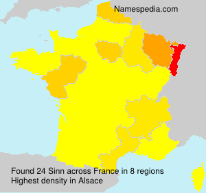 Familiennamen Sinn - France