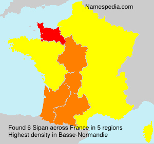 Surname Sipan in France
