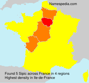 Surname Sipic in France