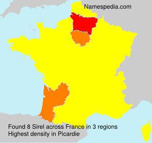 Surname Sirel in France