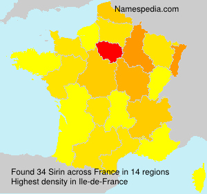 Surname Sirin in France