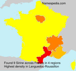 Surname Sirine in France