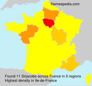 Surname Sirjacobs in France