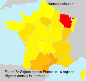 Surname Sirjean in France