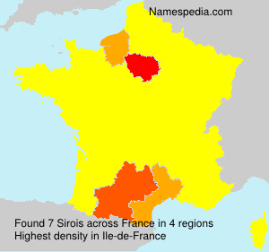Surname Sirois in France