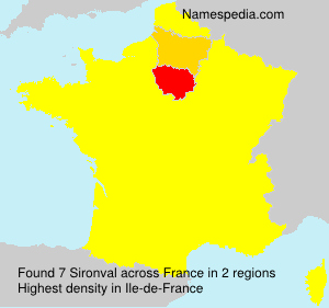 Surname Sironval in France