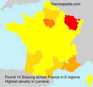 Surname Sissung in France